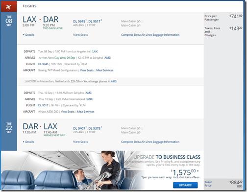 LAX-DAR DL $884 Oct15