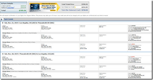 LAX-SKG $790 Greece United Thanksgiving