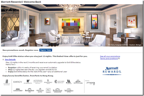 Marriott Rewards Welcome Back