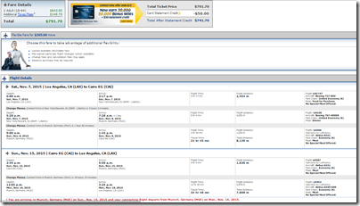 SFO-CAI Nov7-15 United $792