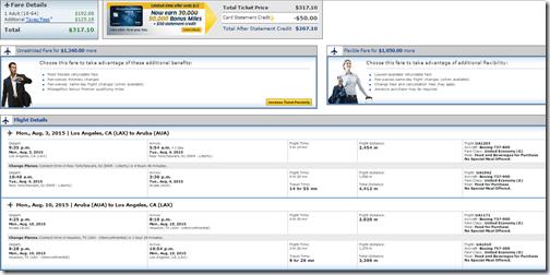 LAX-AUA $317 UA Aug3-10