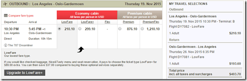 LAX-OSL $404 Norwegian Nov15