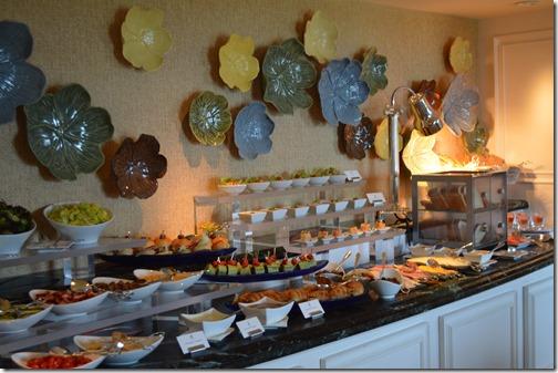 Ritz Carlton Orlando Club Lounge food