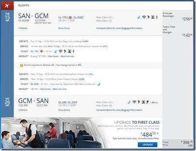SAN-GCM $399 Delta Sep 15