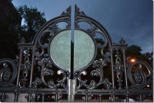 Boston Public Garden gate