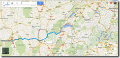 Google Maps Geneva to Clermont-Ferrand