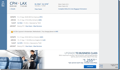 LAX-CPH $658 DL-2 Aug15