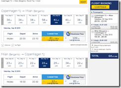 RyanAir CPH-BGY Milan $64 rt