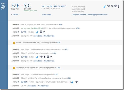 SJC-EZE-2 $821 DL July15