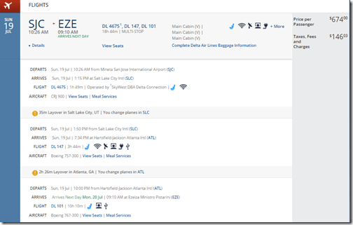 SJC-EZE $821 DL July15
