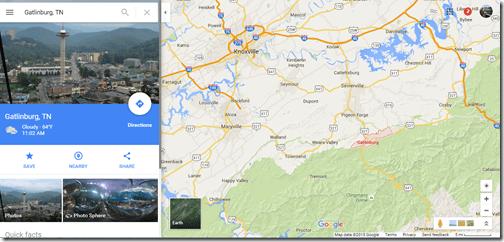 Google Maps Gatlinburg TN