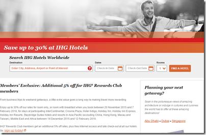 IHG member discount AP