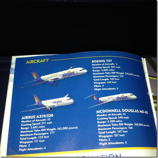 Allegiant aircraft