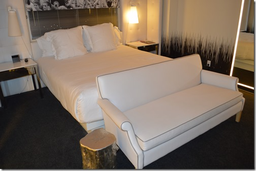 SLS Las Vegas bed sofa