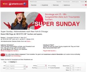 Air Berlin Super Sunday flash sale JFK-ORD May 29