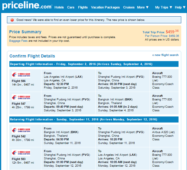 3373 Priceline Consumer Reviews and Complaints