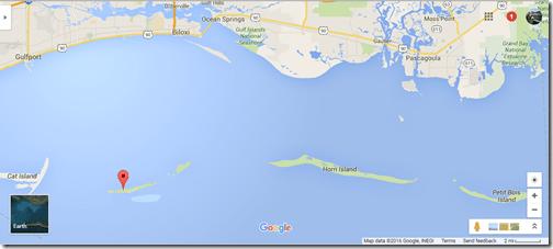 GINS Google maps Mississippi region