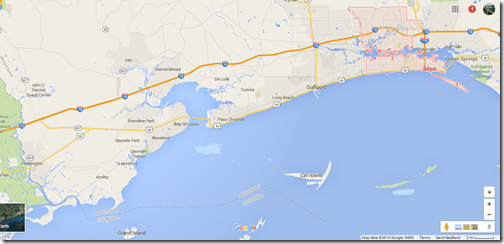 Google Maps Mississippi Coast