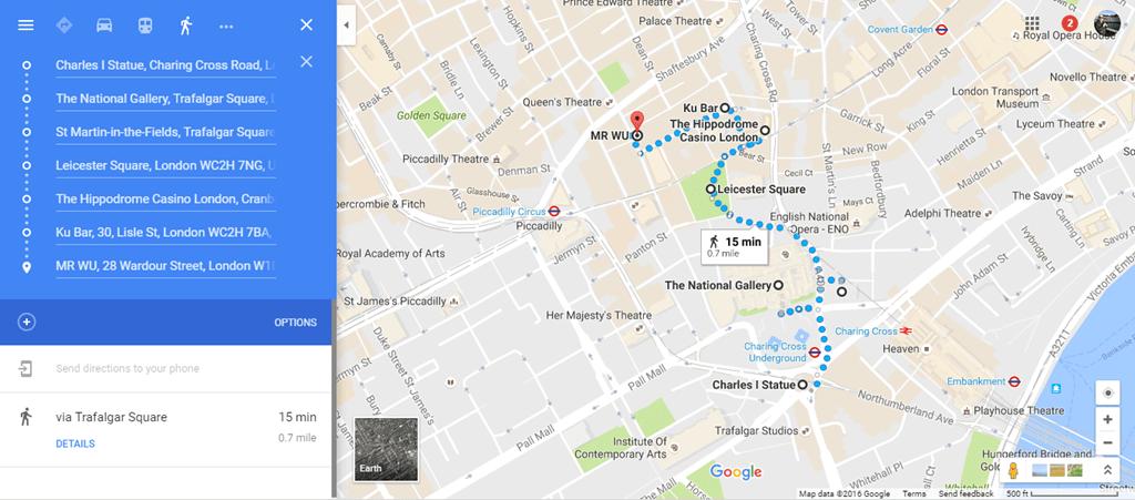 Chinatown Food Street Map