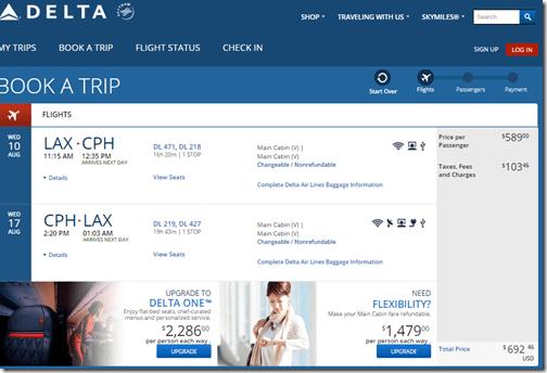 LAX-CPH $692 DL Aug