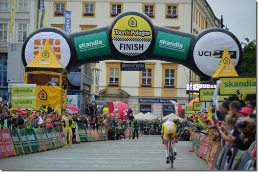 Tour of Poland finish line