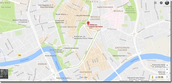 Krakow Google Maps