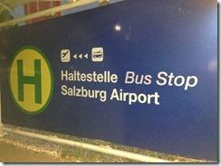 Salzburg airport bus stop