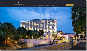 InterContinental Vienna homepage