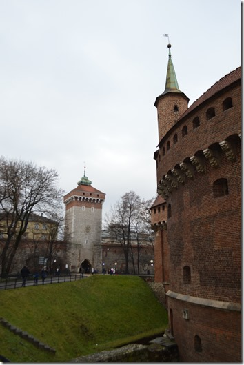 Krakow old city wall
