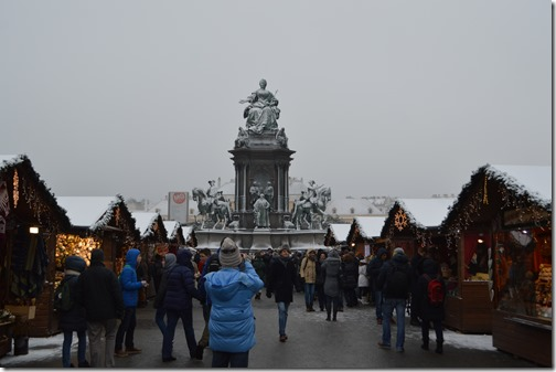 Vienna Maria Theresa Square Xmas