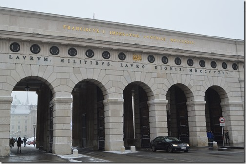 Wien Hofburg Palace gate