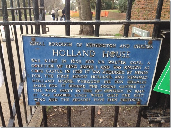 Holland Park sign