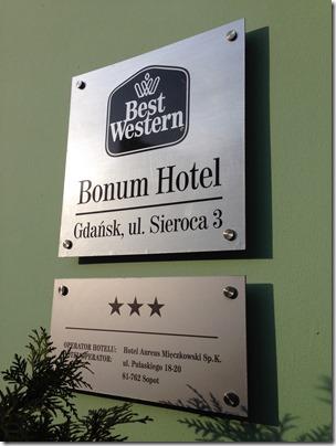 BW Bonum sign