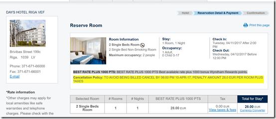 Days Hotel Riga $30