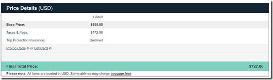 LAX-SYD PR $727 Price