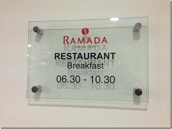 Ramada Restaurant hours
