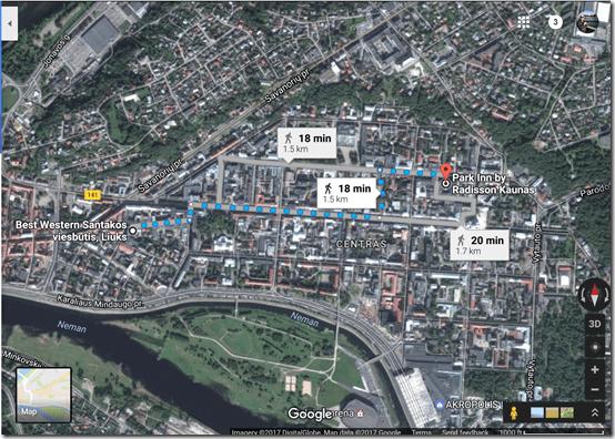 Park Inn Kaunas google maps