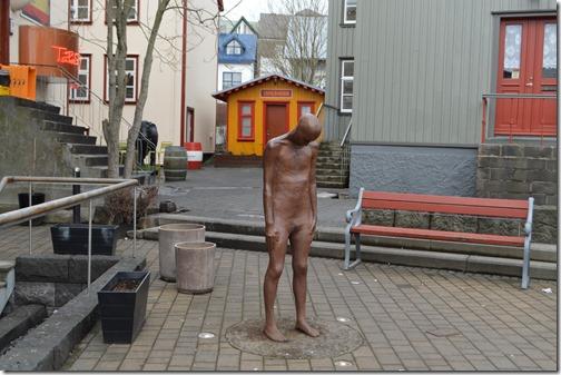 Reykjavik sad statue