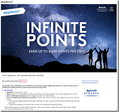 Marriott Megabonus Infinite Points image