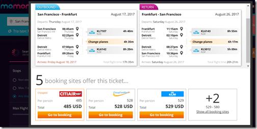 SFO-FRA $485 KL Aug16-27