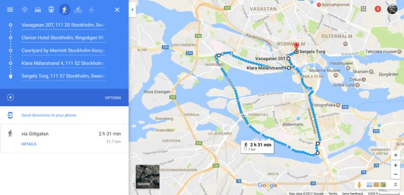 Stockholm Sodermalm walk map