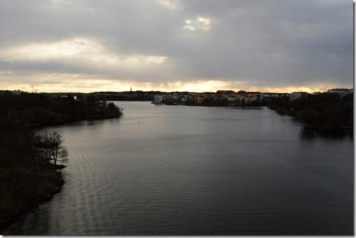 Stockholm Vasterbron bridge view