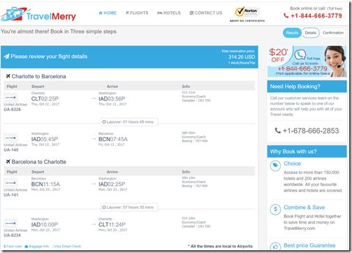 CLT-BCN $314 TravelMerry