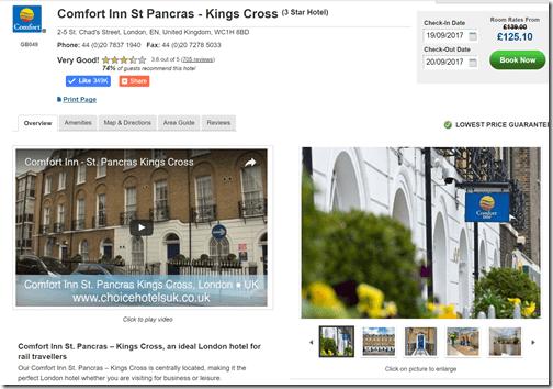 Choice London Comfort St. Pancras