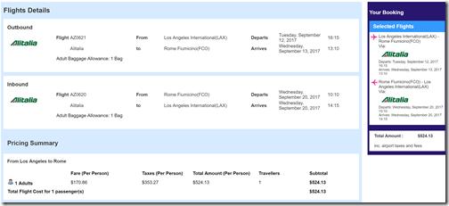 LAX-FCO $524 AZ Sep12-20