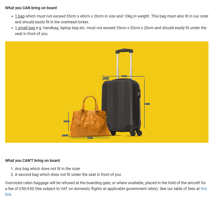 How I avoid low cost airline bag fees
