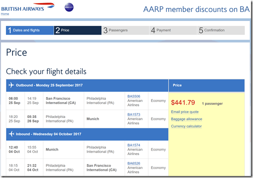 SFO-MUC $442 BA-AARP Sep25-Oct 4
