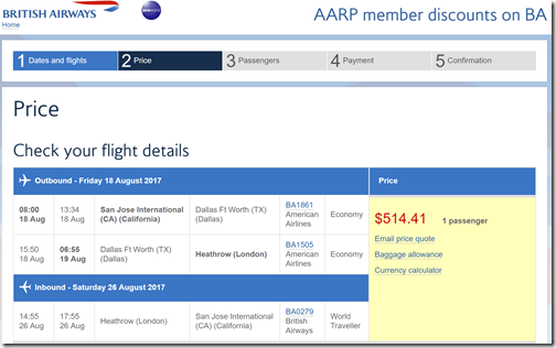 SJC-LHR $514 BA-AARP Aug18-26