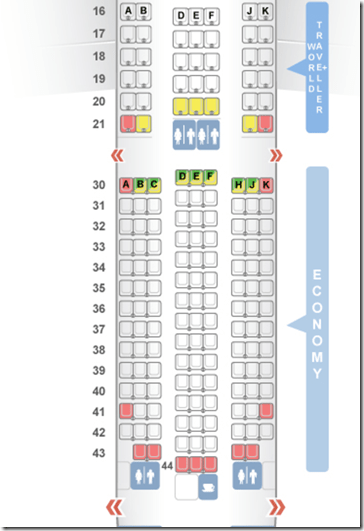SeatGuru BA 787-9 economy seat map