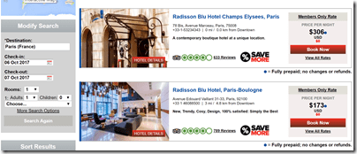 Club Carlson Paris Free Friday